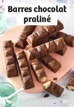 Barres chocolat praliné