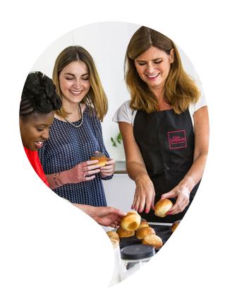 Partage entre clients Guy Demarle lors d'un Atelier Culinaire