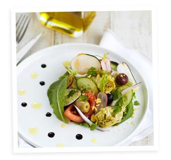 Salade niçoise à l'huile d'olive