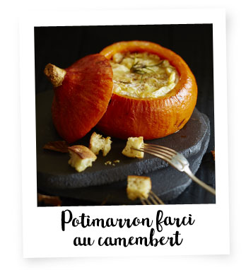 Potimarron farci au camembert