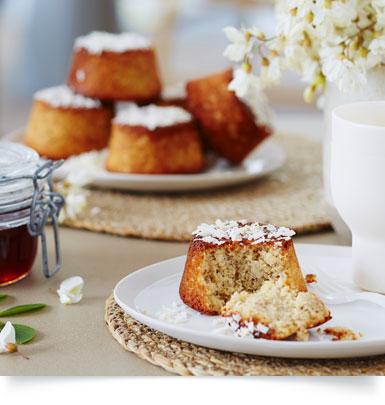 Muffins fondants coco