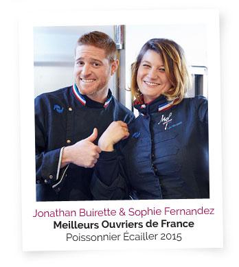 Jonathan Buirette & Sophie Fernandez, Meilleurs ouvriers de France - Poissonnier Écailler 2015