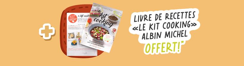 + Livre de recettes 'Le kit cooking' Albin Michel OFFERT !