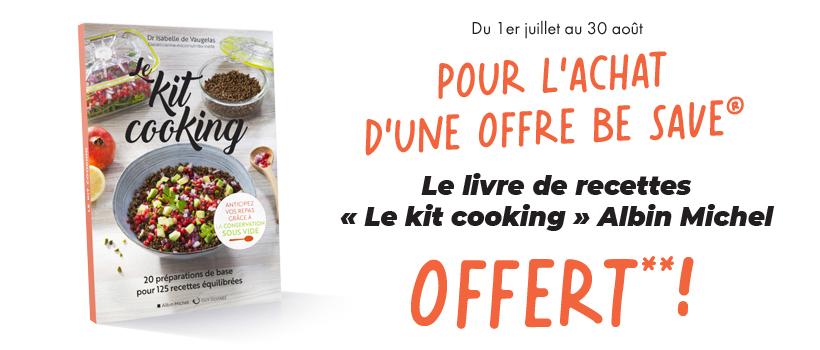 Livre kit cooking offert pour l'achat d'une offre Be Save®