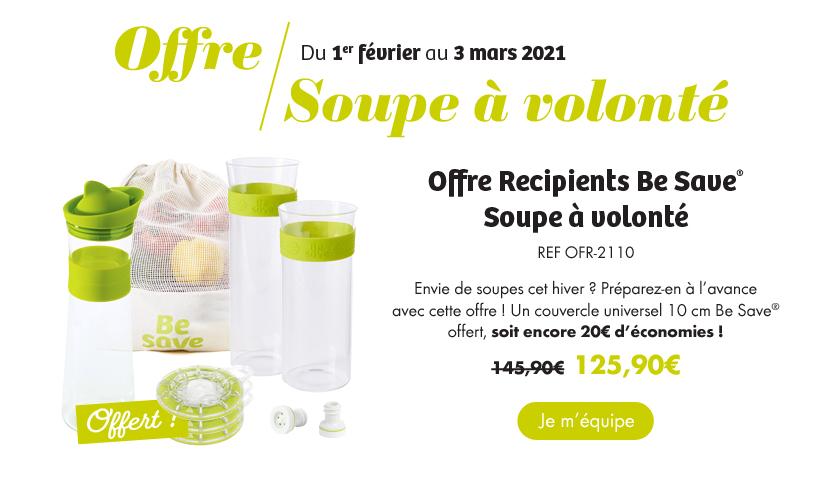 Offre soupes à volonté du 1er février au 3 mars 2021 - Voir l'offre
