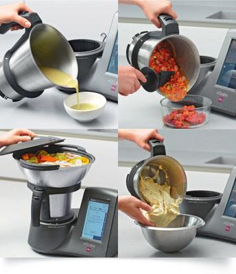 Plus de 10 fonctionnalités pour le robot de cuisine connecté i-Cook'in