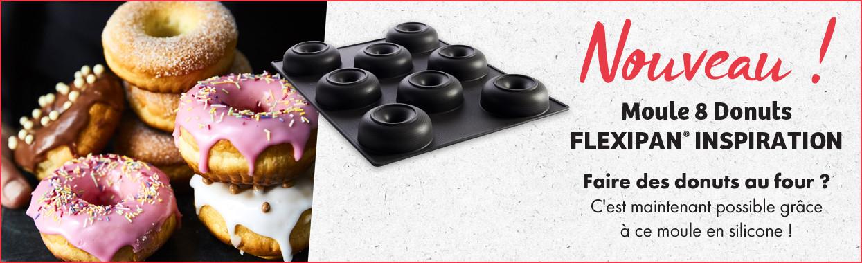 NOUVEAU ! Moule 8 Donuts FLEXIPAN INSPIRATION